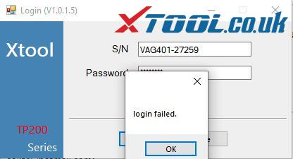 xtool-v401-login-failed