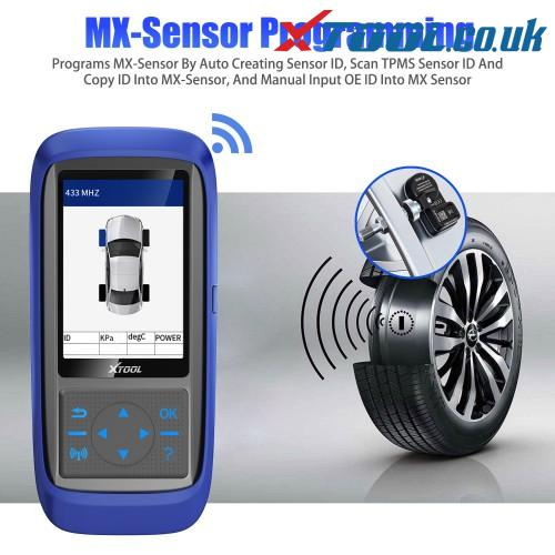 XTOOL tire pressure scanner introduction