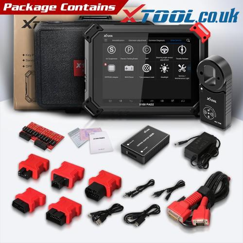 XTOOL X100 PAD2 Pro Audi Key Programming Function Overview