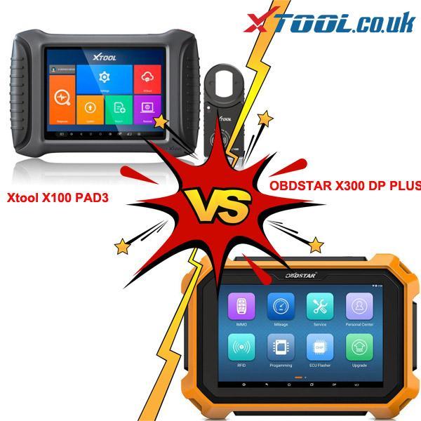 XTOOL X100 PAD 3 VS OBDSTAR X300 DP Plus