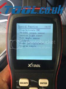 Xtool VAG401 EPB Reset On 2010 Audi A5 3
