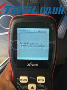 Xtool VAG401 EPB Reset On 2010 Audi A5 7