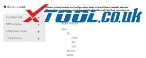 Obdstar X300 Dp Plus car list