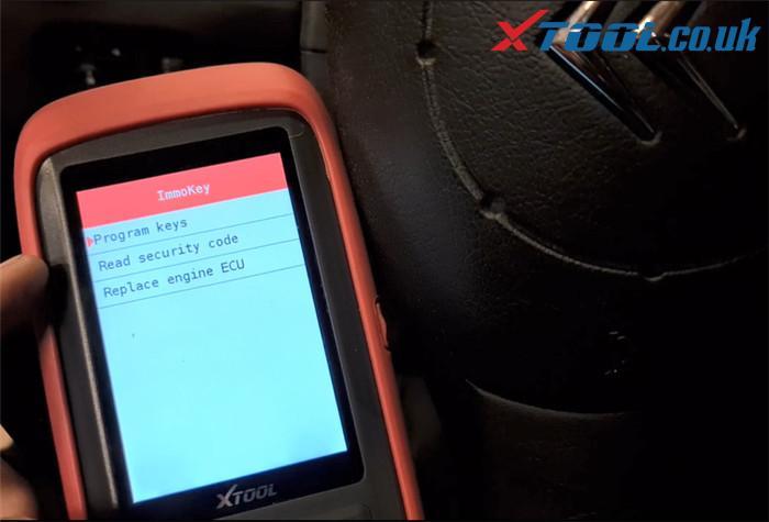 Xtool X100 Pro2 Citroen Key Program Guide 4