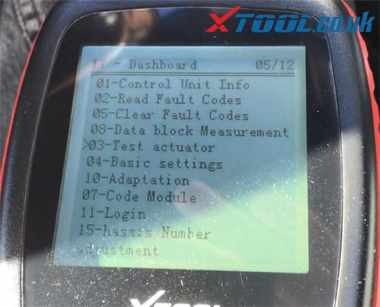 Xtool V401 Test Dashboard Audi Tt Mk1 5