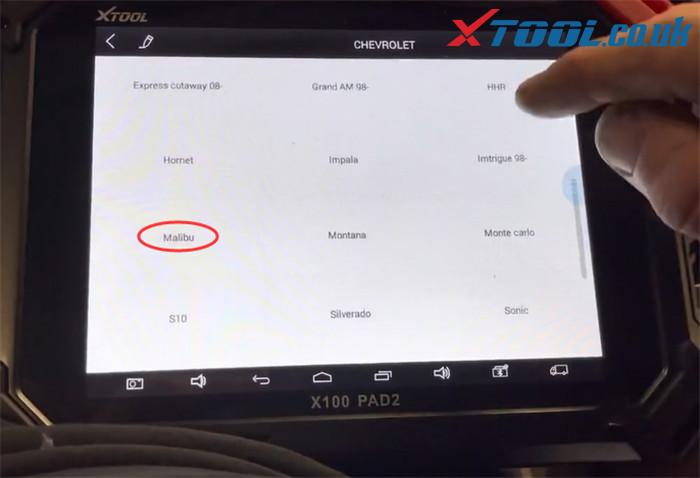 X100 Pad2 2016 Malibu Mileage Correction 2