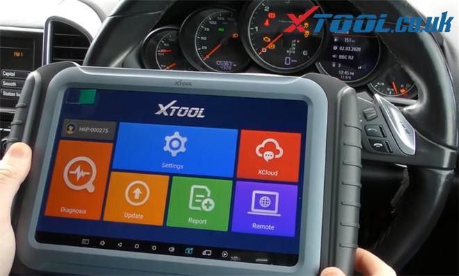 Xtool A80 Pro Change Mileage Porsche Cayenne 1