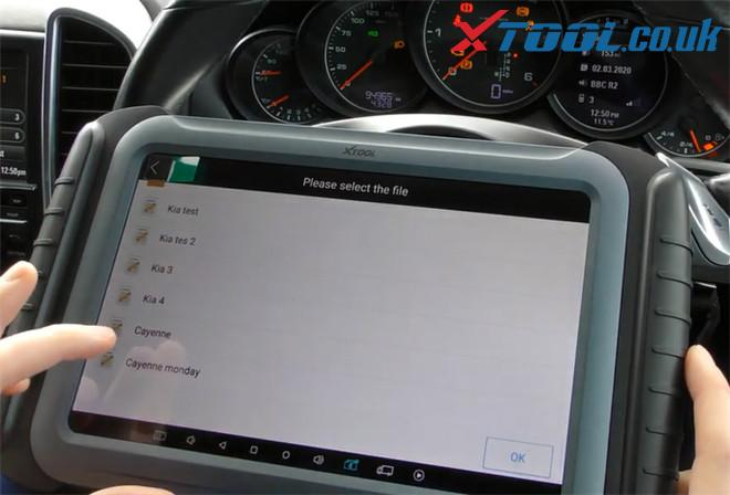 Xtool A80 Pro Change Mileage Porsche Cayenne 12