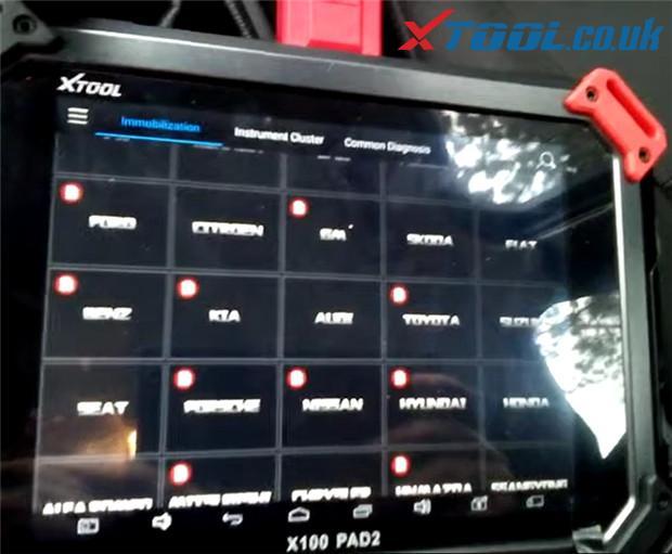 X100 Pad2 Pro Program 2016 Ford Focus 1