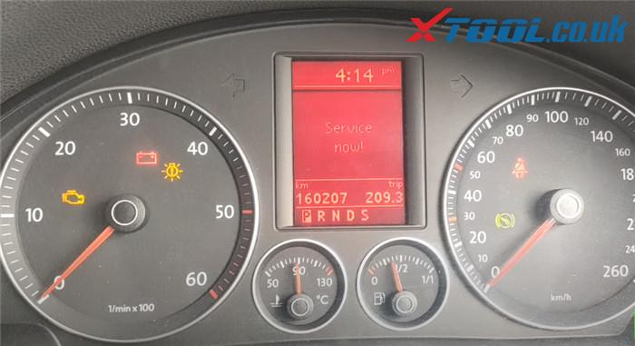 Xtool A80 Pro Reset Service Vw Jetta 1
