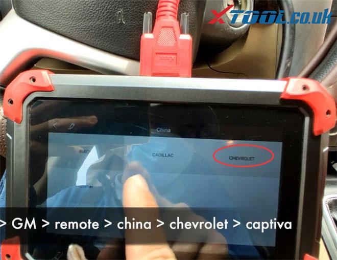 X100 Pad Program 2007 Chevy Captiva Remote 1