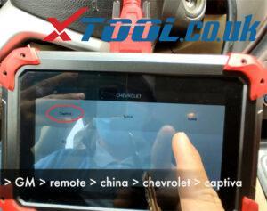 X100 Pad Program 2007 Chevy Captiva Remote 2