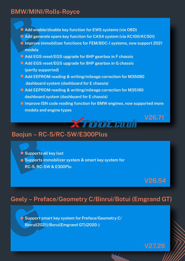 XTOOL Key Programming Update 202106 2