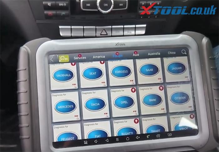 Xtool A80 Pro Benz C220 Parking Sensor Fault 1