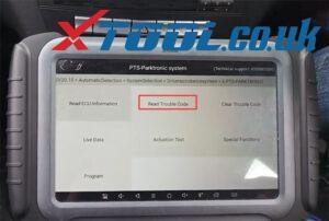 Xtool A80 Pro Benz C220 Parking Sensor Fault 4