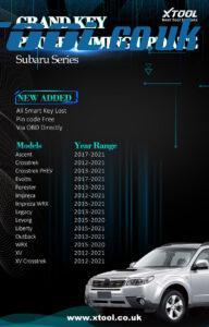 Xtool Subaru Update