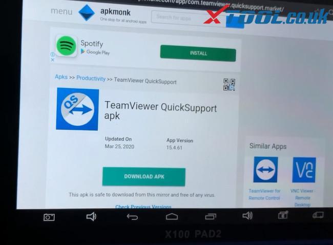 Xtool Tablet Series Teamviewer App Update 5