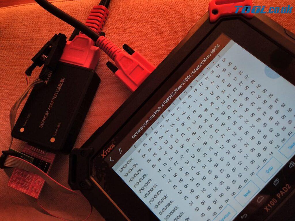 Xtool X100 Pad2 Eeprom 93c76 04