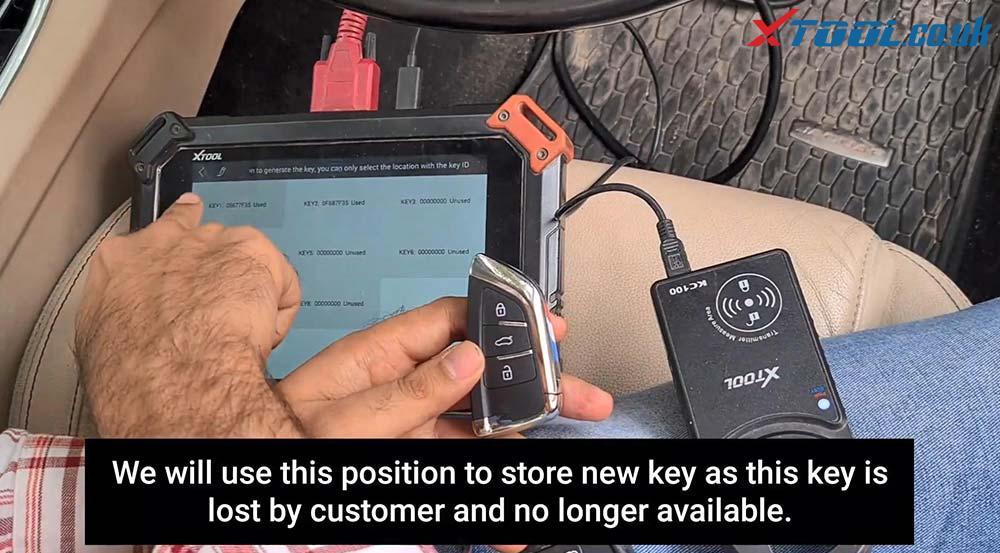 Xtool X100 Pad2 Program New Jaguar Landrover 2014 Smart Key 21